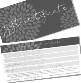 gift certificates and vouchers