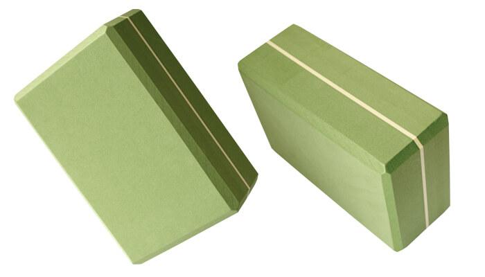 Large Yoga Brick In Green Props And Blocks At Yoga Bloke