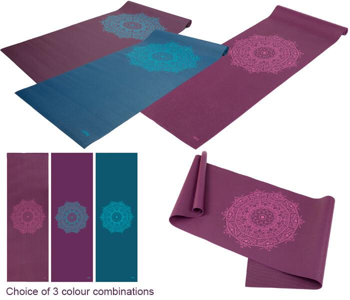 Mandala Yoga Mat for Men: Asana Sticky Yoga Mat from Yoga
