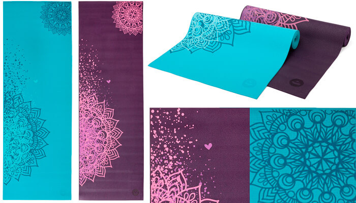 Asana Sticky Yoga Mats Two Tone Mandala