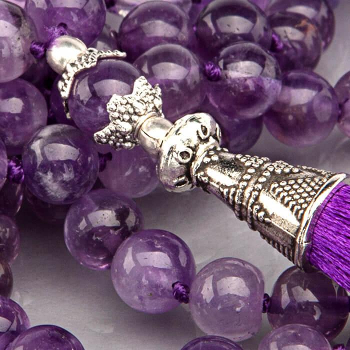 Mala Beads 108 Bead Amethyst Mala Yoga Bloke