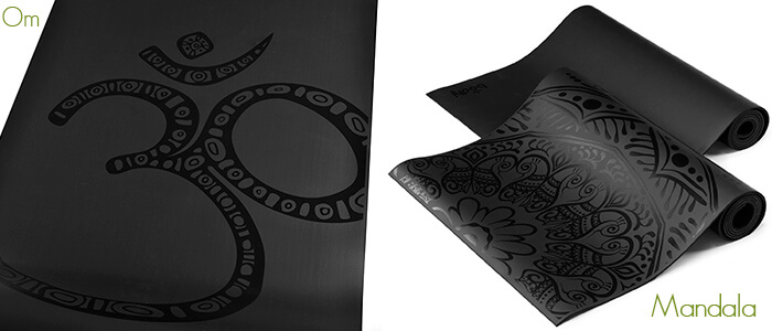 Onyx Yoga Mat with Om or Mandala Design