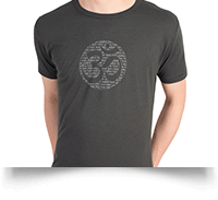 Born Peaceful Bamboo Jersey Om Mantra T Shirt