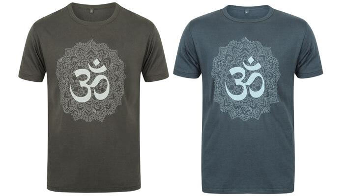 fec21b0bb54e Men's Yoga T-Shirt with Om Mandala Design | Yoga Bloke