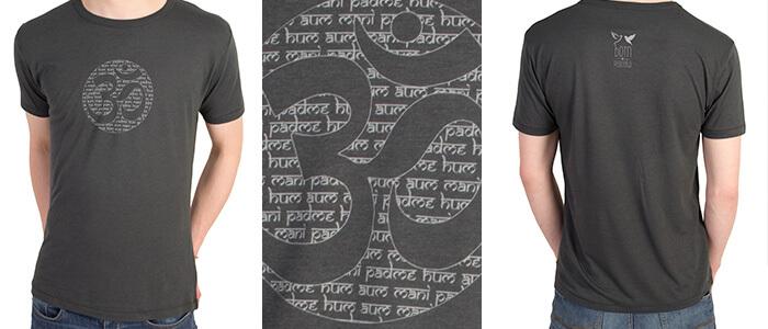 Mens Om Yoga Tshirt Ethical Bamboo Fabric Yoga Bloke