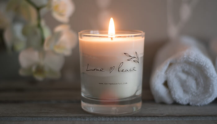 Hand Poured Candle | Love & Peace #3