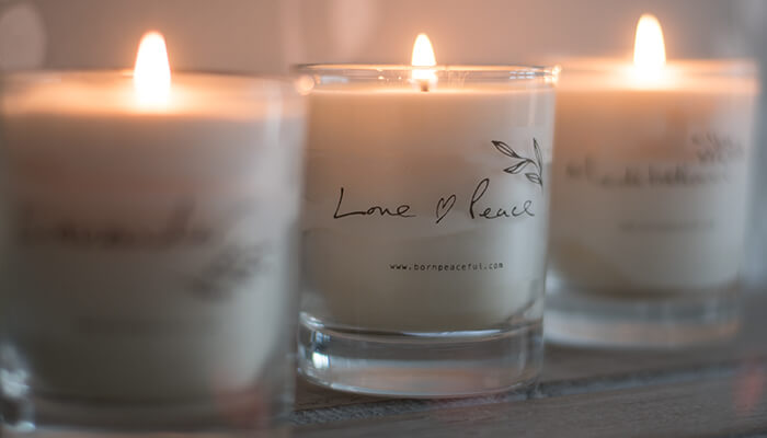 Hand Poured Candle | Love & Peace #4