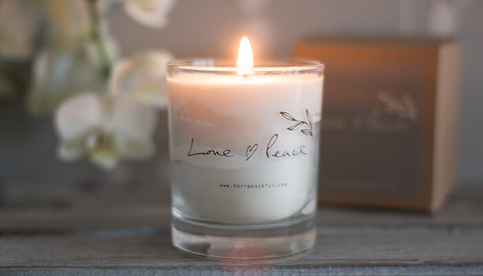 Hand Poured Candle | Love & Peace #5