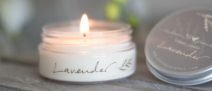 Travel Candle | Lavender | Born Peaceful