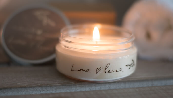 Travel Candle | Love and Peace | Born Peaceful #4