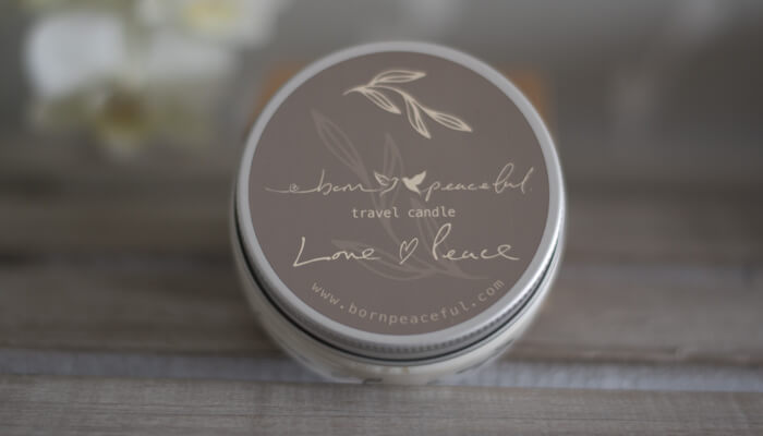Travel Candle | Love and Peace | Born Peaceful #3