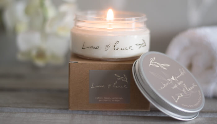 Travel Candle | Love and Peace | Born Peaceful #6