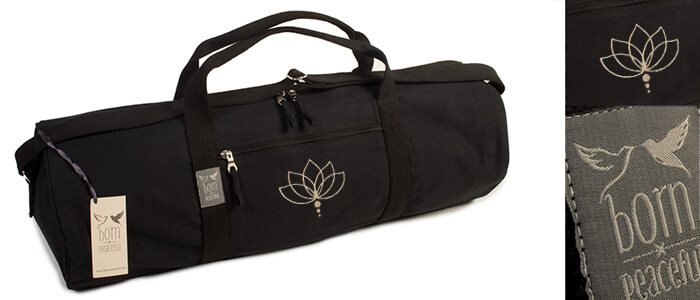 Born Peaceful Lotus Flower Yoga Mat Bag Hold All