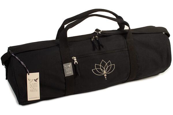 Yoga Mat Bag With Lotus Flower Embroidery Yoga Bloke