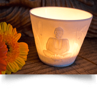 Porcelain Cup Buddha Tea light holder