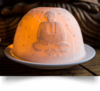 Zen Buddha PorcelainTea light holder