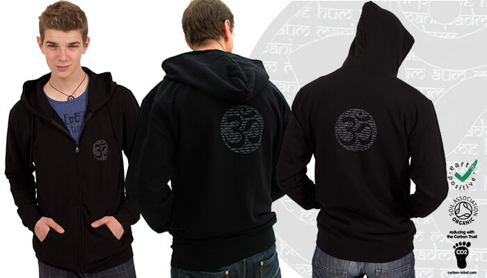 Earth Positive Om Mantra Hoodie
