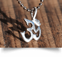 Silver Om Necklace on a ball chain
