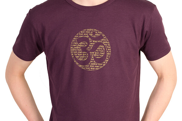 Bamboo Jersey Om Mantra T Shirt in Eggplant #2
